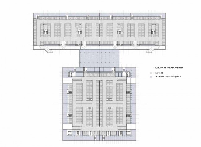 Жилой комплекс на ул. Типанова. План на отметке -3 000 © Студия 44