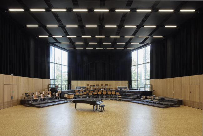 Дворец музыки и конгрессов – реконструкция. Зал репетиций филармонического оркестра © Bruno Klomfar