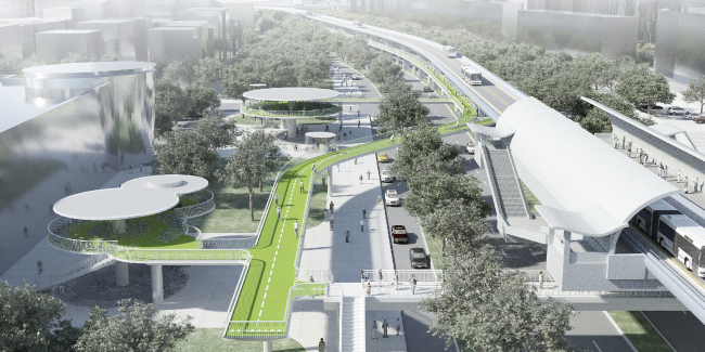 «Воздушная трасса» для велосипедов в Сямэне © Dissing + Weitling architecture