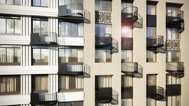 Housing complex at the Mikhailova Street © Olimpproekt Group