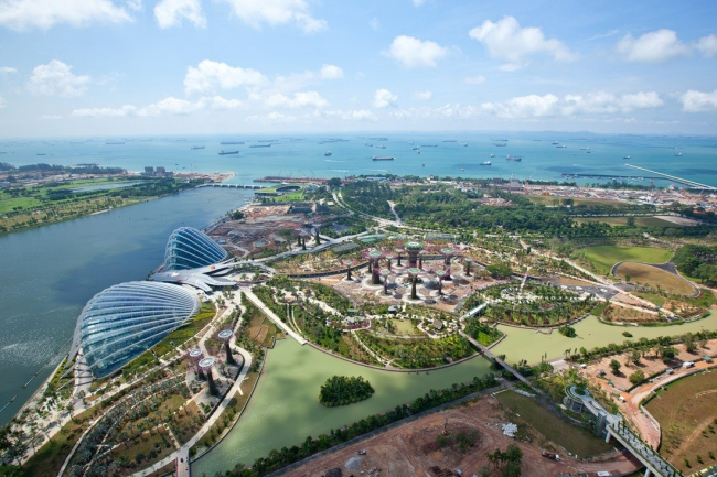 Оранжереи в парке Марина-Бэй-Саут в Сингапуре © Wilkinson Eyre Architects
