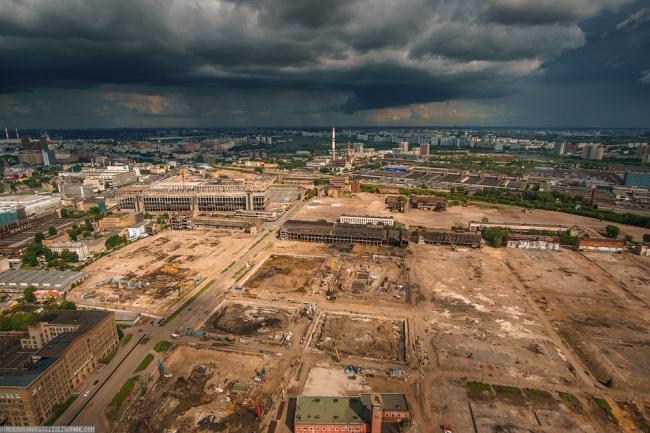 Жилой комплекс ЗИЛАРТ. Вид на местность до начала строительства © Евгений Герасимов и партнеры