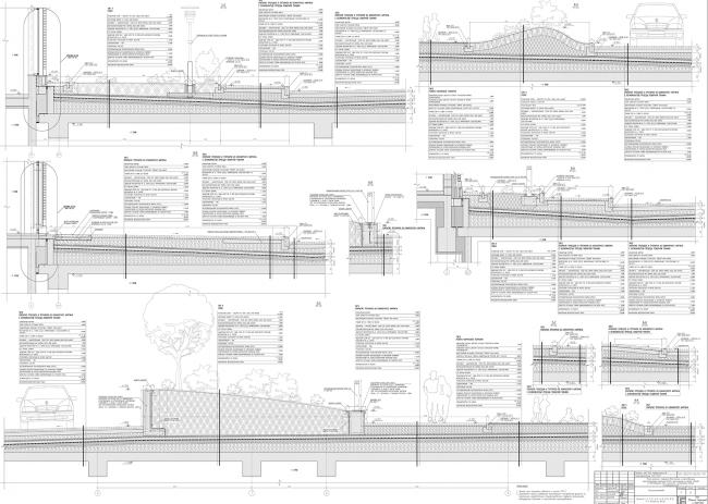 Жилой комплекс ЗИЛАРТ. Сечение 1-1, 9-9 © Евгений Герасимов и партнеры