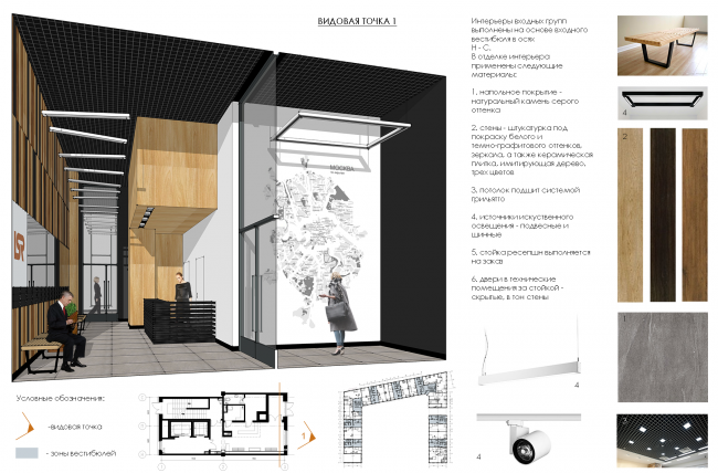 ZilArt residential comple. Concept of design of the public and residential part © Eugene Gerasimov and Partners