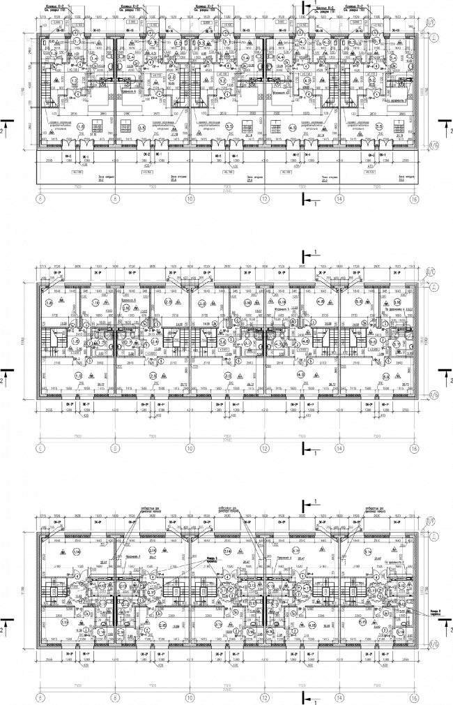 ZilArt residential comple. Plan of the townhouses © Eugene Gerasimov and Partners