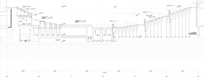 Zaryadye Philharmonic Hall. The layout of the mechanization © TPO Reserve