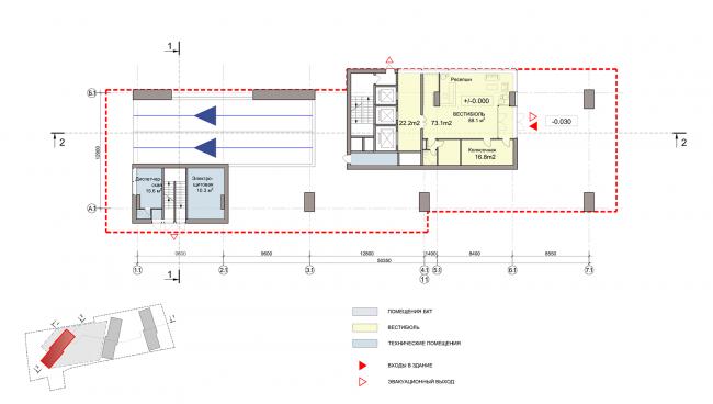 ЖК на улице Зорге. План 1 этажа. Блок 3 © ГК «ОЛИМПРОЕКТ»