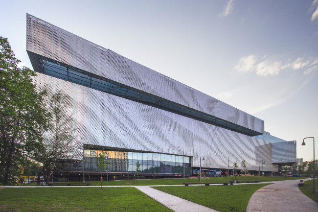 """""""Oceania"""" multifunctional center (concept of facade solution) © Asadov Architectural Bureau"""