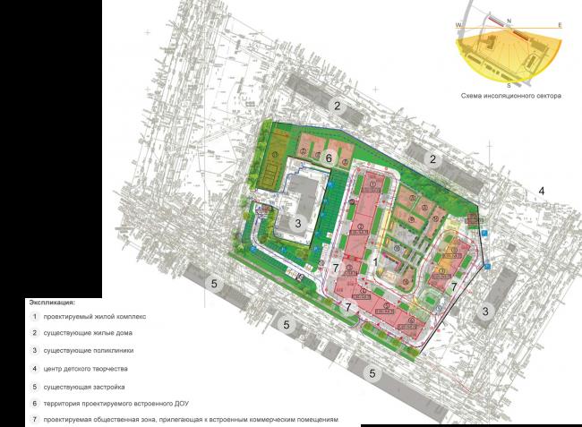Housing complex at the Mikhailova Street. Location plan © Olimpproekt Group