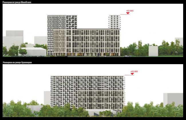 Housing complex at the Mikhailova Street. Development drawings © Olimpproekt Group