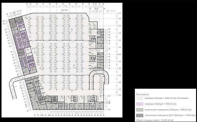 ЖК на ул. Михайлова. Схема плана 1 этажа