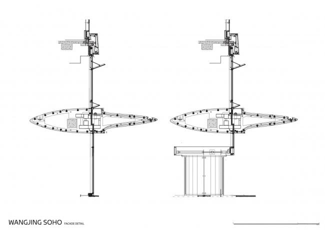 Комплекс «Ванцзин SOHO» © Zaha Hadid Architects