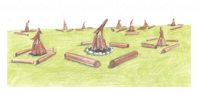 Эскиз проекта Алексея Мартинса «Быть вместе». Изображение предоставлено командой фестиваля «Архстояние»