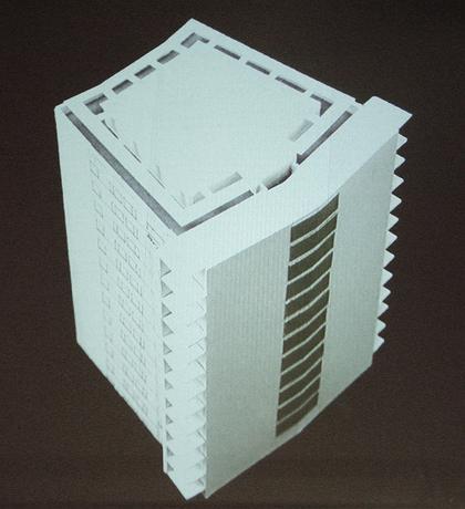 Реконстрцкция здания 1960-х. Справа - пристроенный объем