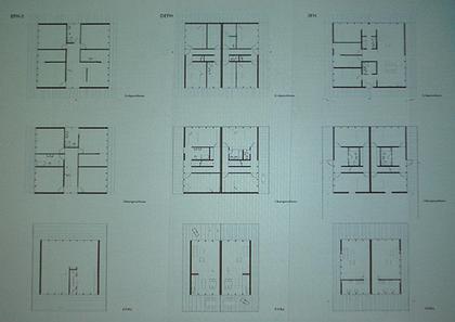Варианты планировок внутри типовых домов на 1, 2 и 3 семьи