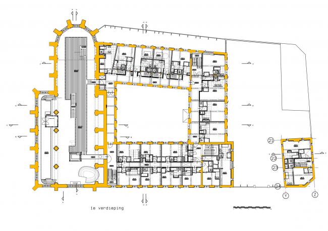 Гостиница Kruisherenhotel © SATIJNplus Architecten