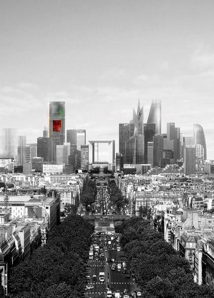 Башня Signal в перспективе Парижа