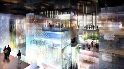 Башня Signal. Интерьер торгового центра. Проект