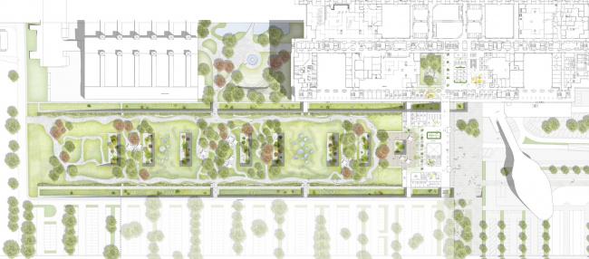 Университетская клиника Ахена – новое крыло © HENN + C.F. Møller Architects