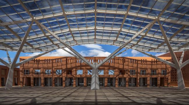 Кампус Политехнического университета Мухаммеда VI © Ricardo Bofill Taller de Arquitectura