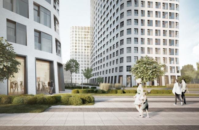 Многофункциональный жилой комплекс на Симоновской набережной © «Цимайло, Ляшенко и партнеры»