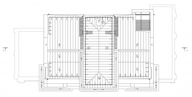 Реставрация дома Сытина. План кровли © Гинзбург Архитектс