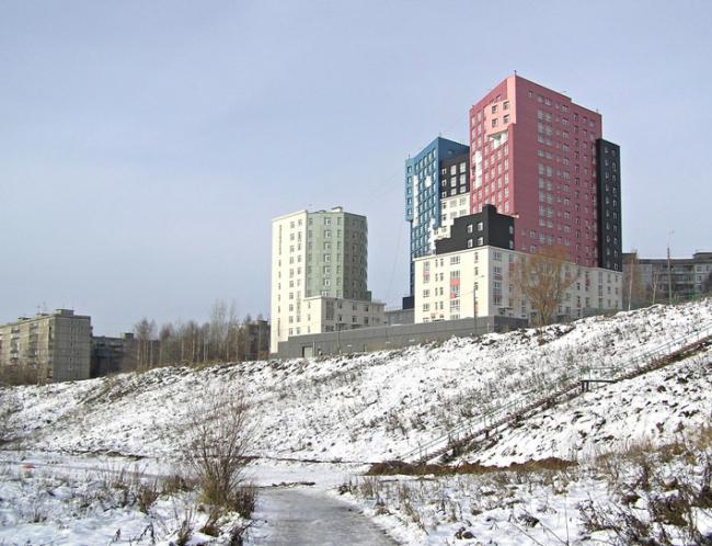 Жилой комплекс на улице Лопатина в Верхних Печорах © Архитектурное бюро «5 и 5»