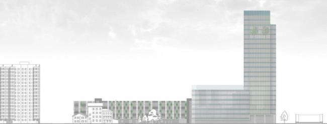 Многоуровневая автостоянка на ул. Октябрьская © ООО «Спектрум-Холдинг». Предоставлено пресс-службой «Москомархитектуры»