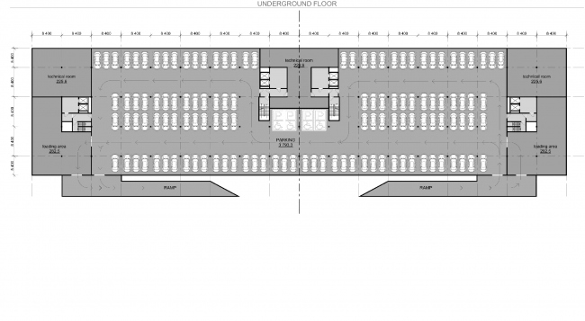 """Palm Jumairah Community project. Plan of the underground floor © """"GrandProjectCity"""""""