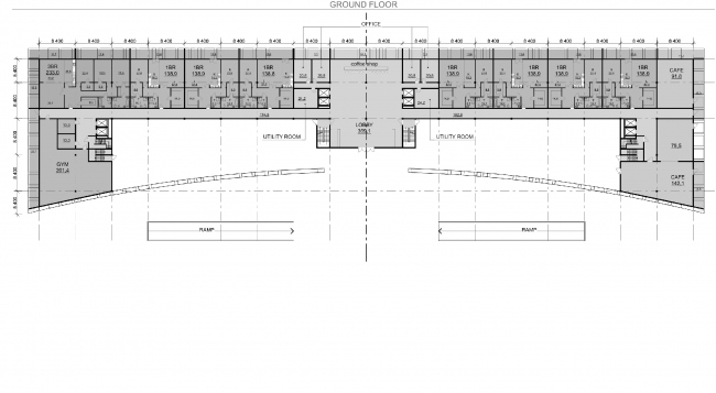"""Palm Jumairah Community project. Plan of the first floor © """"GrandProjectCity"""""""