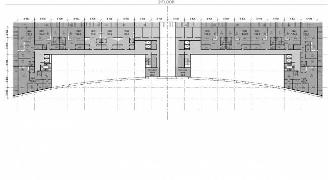 """Palm Jumairah Community project. Plan of the third floor © """"GrandProjectCity"""""""