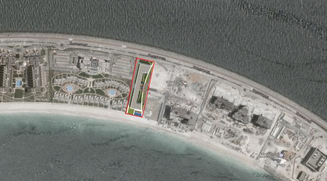 "Palm Jumairah Community project. Location plan © ""GrandProjectCity"""