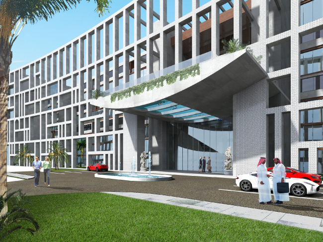 """Palm Jumairah Community project. The entrance group © """"GrandProjectCity"""""""
