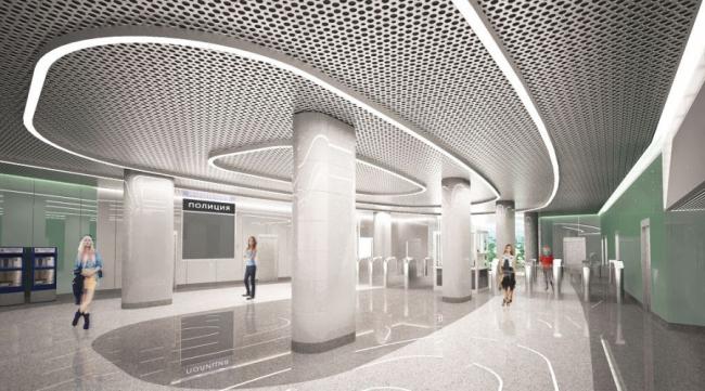 Станция метро «Озёрная» © ОАО «Метрогипротранс». Предоставлено пресс-службой «Москомархитектуры»