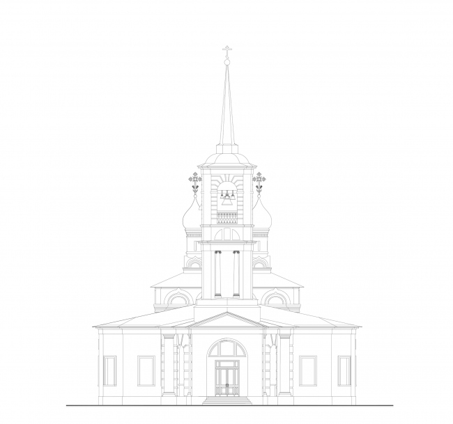 Церковь Воскресения Христова на Остоженке. Западный фасад © Алексей Котов