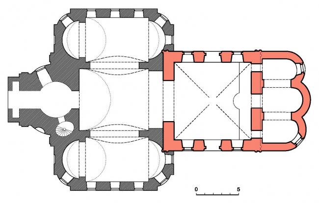 Церковь Воскресения Христова на Остоженке. План храма, вариант 2017 года © Алексей Котов