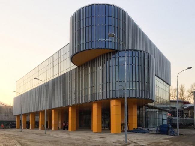 Центр обслуживания пассажиров ТПУ «Верхние Котлы» © ГУП «Моспроект-3». Предоставлено пресс-службой «Москомархитектуры»