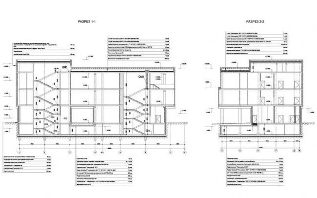 Центр обслуживания пассажиров ТПУ «Верхние Котлы». Разрезы © ГУП «Моспроект-3». Предоставлено пресс-службой «Москомархитектуры»