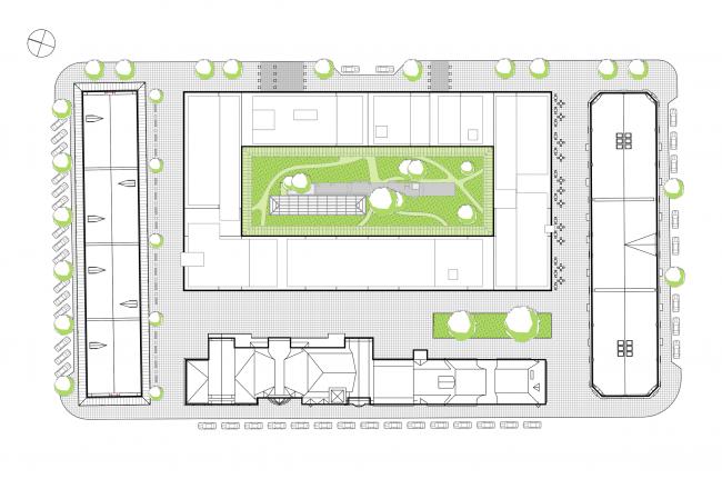 Жилой комплекс  «ASTRA». Генеральный план ©  SYNCHROTECTURE