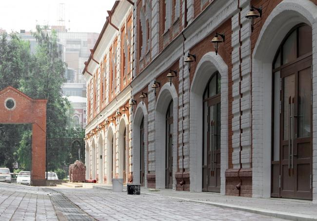Жилой комплекс  «ASTRA». Реконструированный торговый пассаж XIX века © SYNCHROTECTURE
