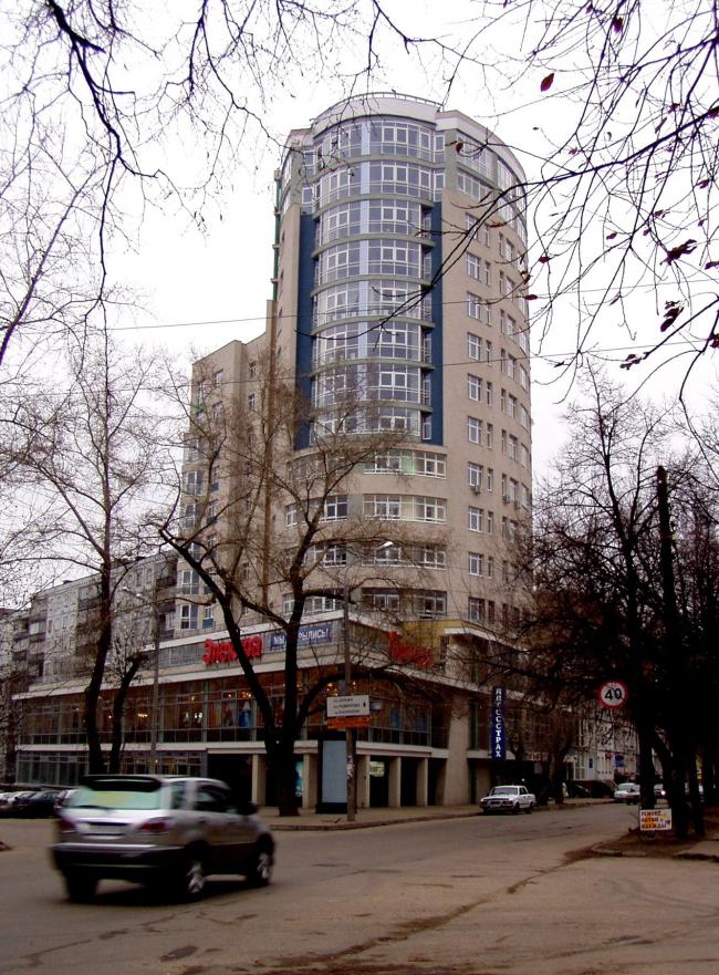 Жилой дом с офисами «Провиантская башня» © Творческая мастерская архитектора Быкова