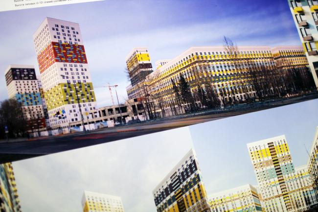 ЖК на Варшавском шоссе, 141. 2015-2018. ПИК-Проект, buromoscow. Переснято со стенда, 2017