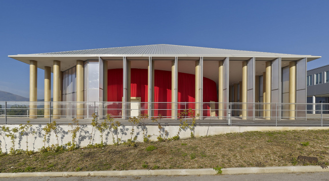 Paper Concert Hall in L'Aquila, Italy, 2011. Photo by Didier Boy de la Tour