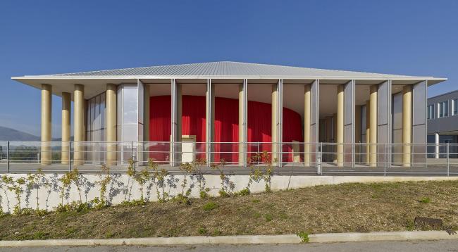 Paper Concert Hall in L′Aquila, Italy, 2011. Photo by Didier Boy de la Tour