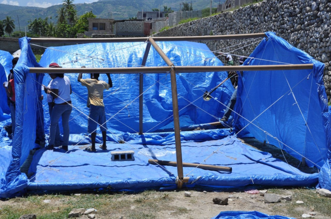 Paper Emergency Shelter for Haiti. 2010. Photo by Alex Martinez