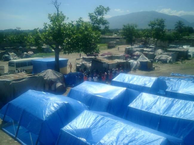 Paper Emergency Shelter for Haiti. 2010. Photo by Shigeru Ban Architects