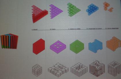 эта картинка иллюстрирует трансформацию основных типов зданий из каталога Blocklibrary