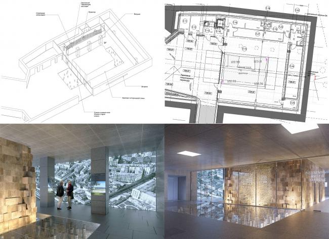 Подземный музей археологии Зарядья. Проект. Этап 3 (финальный). Сентябрь 2016 © Юрий Аввакумов, Георгий Солопов
