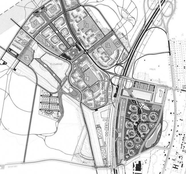 План г. Домодедово. Расположение квартала