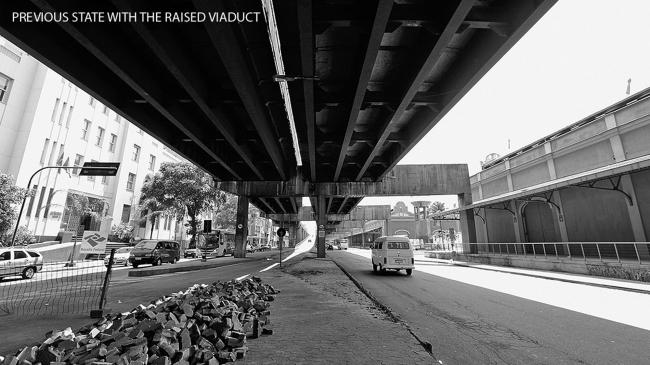 Набережная Луиса Паулу Конджи – Олимпийский бульвар в 2010 году, до начала реализации проекта © B + ABR – Backheuser and Riera Arquitetura